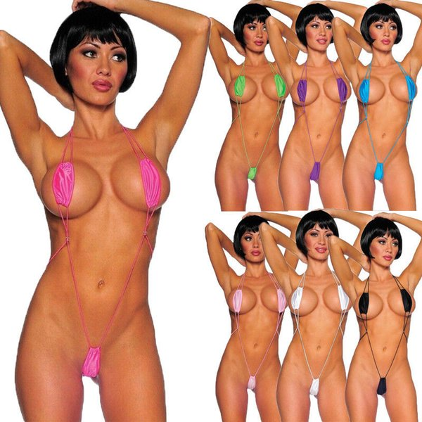 Meihuida Maillot De Bain Bikini 2019 Sexy Femmes Maillot De Bain Micro Maillot De Bain Soutien-gorge Bikini V-string ThongMonokini Vêtements De Plage Femmes