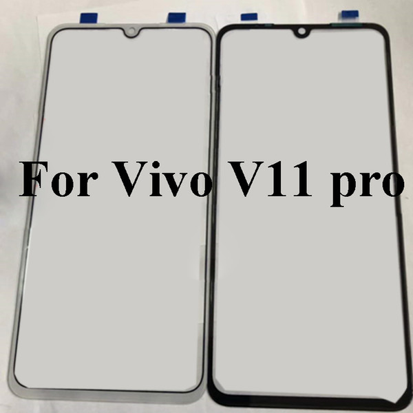 Black For vivo v11 pro Glass Lens touchscreen Touch screen Outer Screen For vivo v 11 pro V11pro Glass Cover without flex