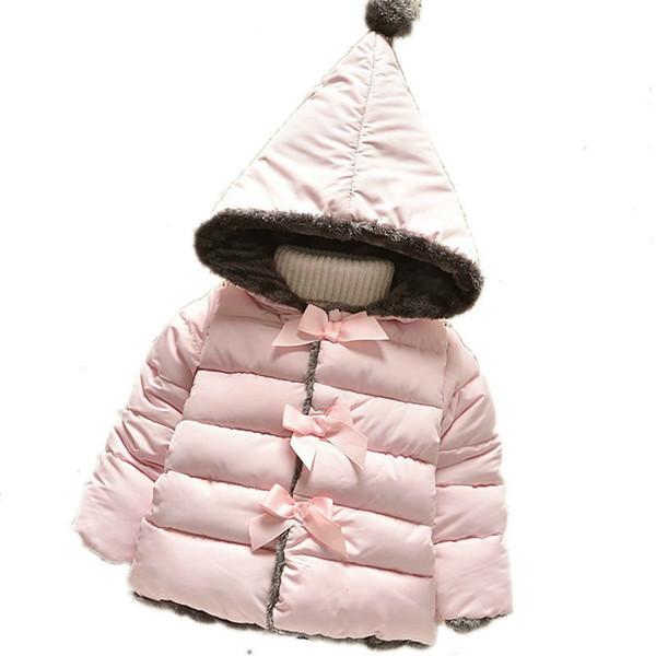 Chaqueta de abrigo de invierno para niña de invierno bebé niño niñas con capucha abrigos de algodón abrigos gruesos de los niños ropa de niños ropa infantil
