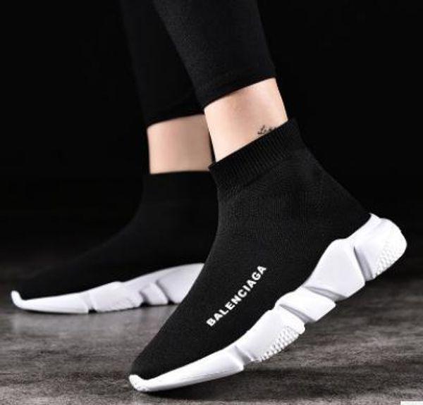 A2 2020 unisexe Chaussures mode casual plates Chaussettes Bottes Rouge Gris Triple Noir extensible Blanc Mesh High Top Sneaker Speed Runner Entraîneur LNUN