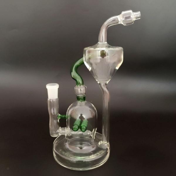 """10"""" Long 29mm Glass Water Vase Straight Bottle Hookah Shisha Long Straight Glass Vase Bottle Hookah Shisha Smoking Filter Pipe Bong Set"""