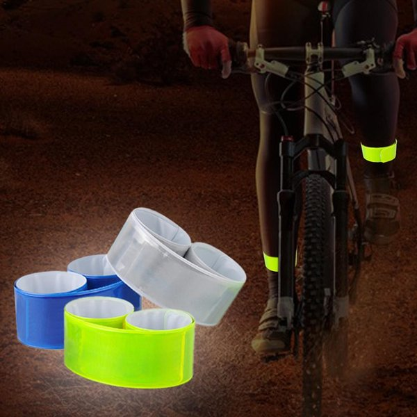 Cycling Wheel Bicycle Reflector Fluorescent Bike Sticker Tape Leg Strap Reflective Stickers Safe Decal Accessories