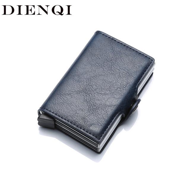 Top Quality Wallets For Men Short Rfid Card Wallet Money Bag Mini Purse Male Aluminium Small Wallet Men Thin Vallet Walet