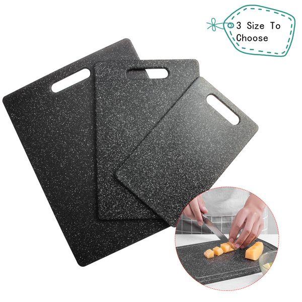 El corte de plástico Junta TPR Material de cocina Tabla de cortar único Apariencia Diseño de mármol para Familias restaurantes de carne Verduras Frutas