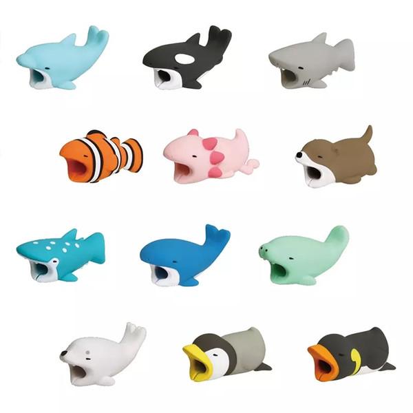 Protetor de Cabo de Mordida de cabo Protetor de Sabor Capa para iPhone Relâmpago Projeto Animal Bonito Cabo de Carregamento de Proteção frete grátis