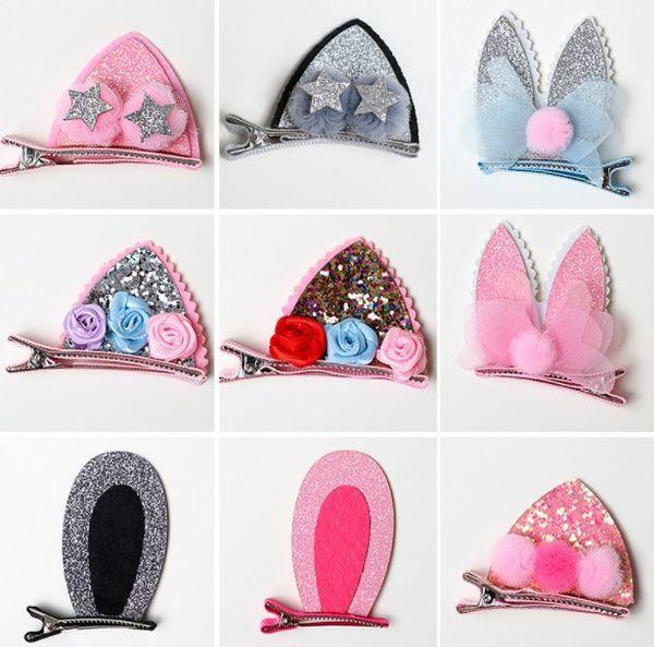 1 pair Children Hair Band Cute Polka Dot Bow Rabbit Ears Headband Girl Ring Scrunchy Kids Ponytail Holder Hair Accessories
