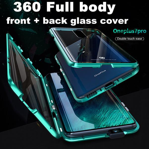 Магнитная адсорбция 360 полный закаленное стекло чехол для Oneplus 7 Pro 7 6T 6 Xiaomi Mi 9 SE CC9 CC9SE K20 Pro VIVO