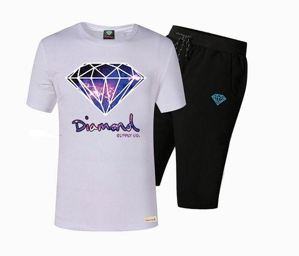 s-5xl Pink dolphin short-sleeved pant suit cotton t shirts short set men's casual O-neck letter design fashion cotton tops