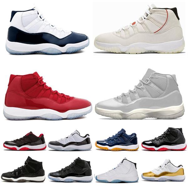 Zapatillas de baloncesto para hombre 2019 Gorras de diseñador y noches de graduación Gimnasio Red Bred Concord 45 Zapatillas deportivas para mujer Tamaño 36-47