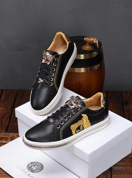 2019x осень и зима новые частные индивидуальные мужские кожаные спортивные кроссовки, высококачественные модные повседневная обувь с низким верхом, размер: 38-44