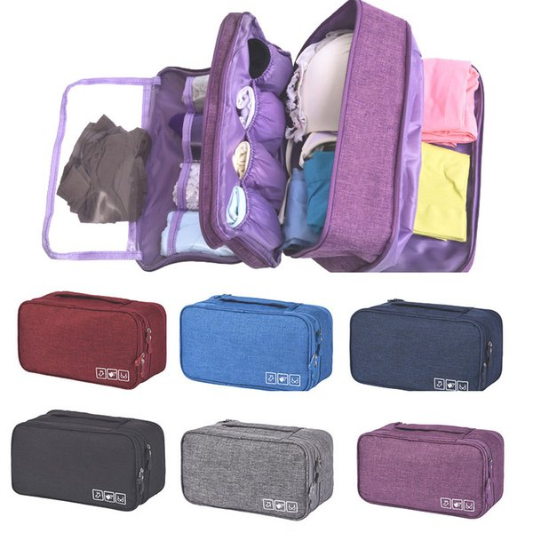 Portable Bra Underwear Storage Bag Large Capacity Sorting Organizer For Travel Socks Cosmetics Drawer Closet Clothes Pouch XD20444