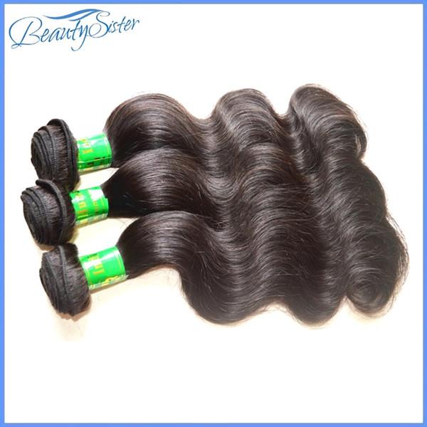 beautysister Haarprodukte beste Qualität reale unverarbeitete indische reine Haarkörperwelle 3bundles 300g Los 100% remy natürliche Farbe des Menschenhaars