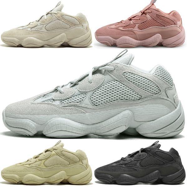Kanye West 500 Desert Rat Blush 500s Salt Super Moon Yellow Utility Black mens running shoes for men women sport sneakers trainers 36-45 #3