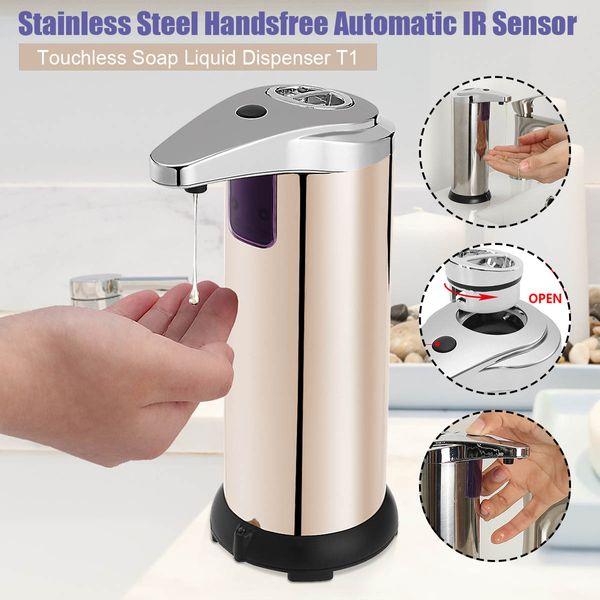 2019 280ml Automatic Liquid Soap Dispenser Stainless Steel Sensor Soap  Dispenser Pump Shower Kitchen Soap Bottle For Bathroom From Pingwang4,  $140.71 ...