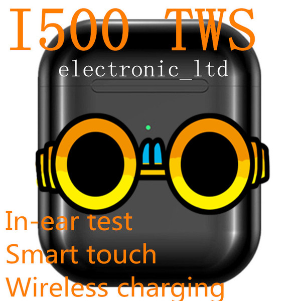 Контроль i500 TWS воздуха 2 мини Bluetooth наушники PK W1 H1 Датчик Earbuds Wirless зарядки ПК i18 i60 i80 i100 i300 i500 TWS