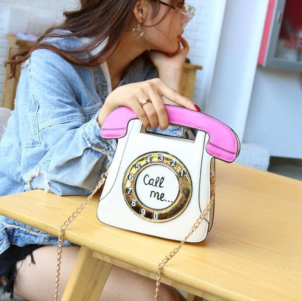 Factory wholesale brand women handbag retro color phone women handbag sweet cute cool leather Chain bag new special shape bag