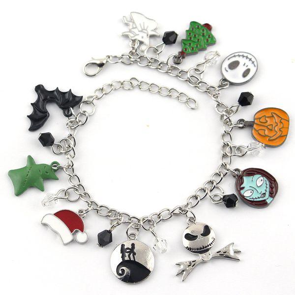 The Charm Nightmare Before Christmas Charm Bracelet Jack Skeletron Sally Zero Anime