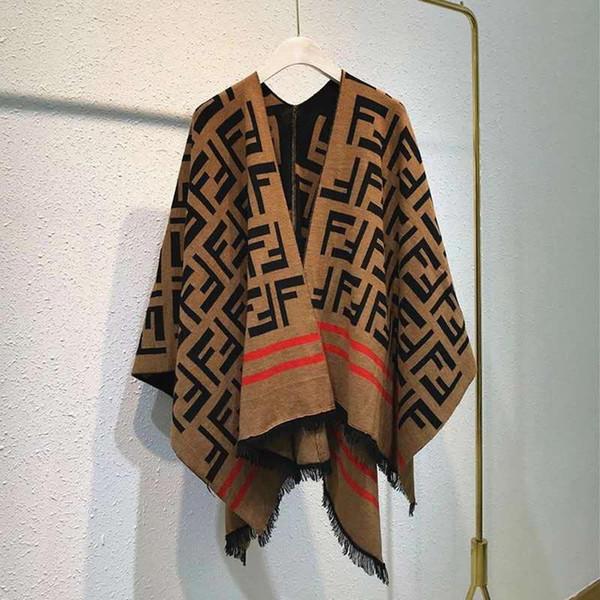 2019 Women Tassel Blouse Knitted Coat Sweater poncho Knit Scarves Tartan Winter Cape Ladies Shawl Cardigan Cloak Free Shipping