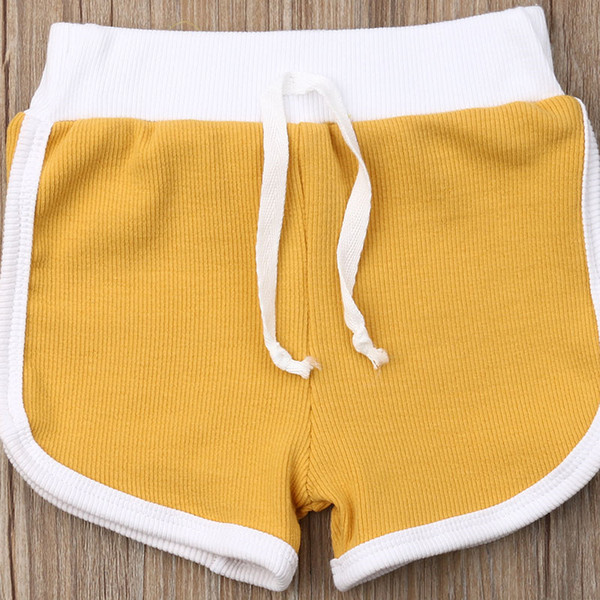 top popular 2020 Newest 1-4Years Kid Trunks Toddler Short Infant Baby Boy Kid Knitted Casual Pure Shorts Summer Children Beach Swim Trunks 2021