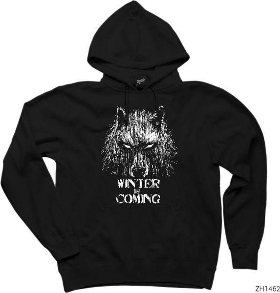 Thrones Zepplin Giyim Kış Of Oyun Türkiye HB-003993351 den Kurt Kapşonlu Sweatshirt / Hoodie Gemi Geliyor