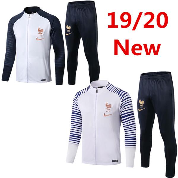 Wholesale19-20 national team uniform Mbappe Pogba jacket tracksuit soccer jersey Griezmann training shirt Giroud frence football long sleeve