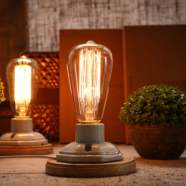 Vintage Table Lamp For Bedroom Dimmable Desk Lamp luminaria Edison abajur Kiven Office Lighting Light Fixtures E27