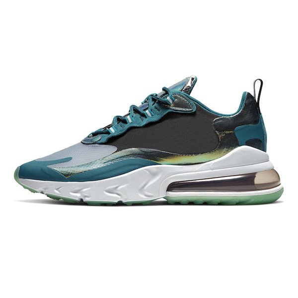 Scarpe Pallavolo Nike Air Max 270 React Shoes Airmax Psyched By You 270 React Mens Running Shoes Royal Blue Bleached Coral Grey Orange In My Feels