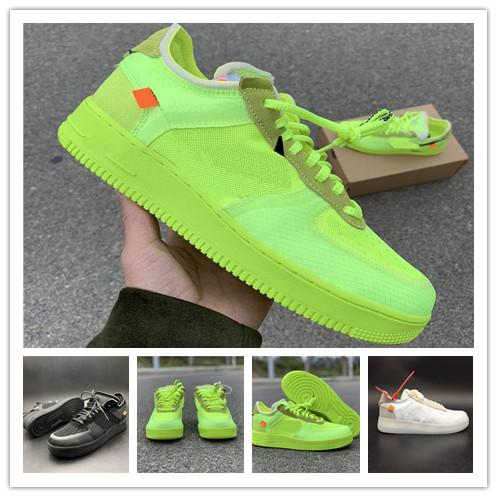 2019 New Arrivals Forces Shoes Women Mens Trainers Forced One Sports Skateboard Classic Green White Black Warrior Sneakers