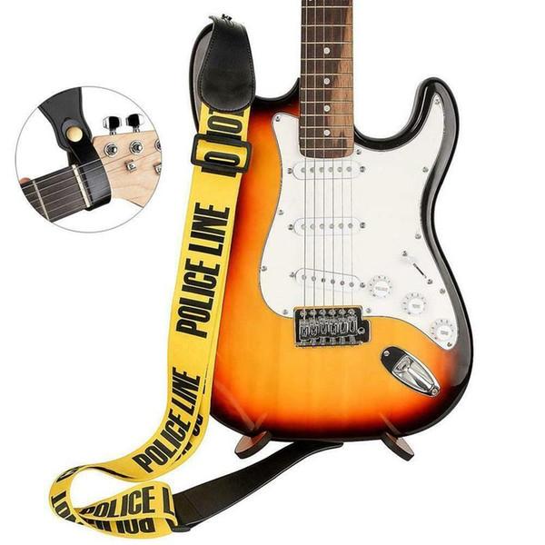 Carta de color amarillo ajustable de poliéster guitarra correa de la guitarra, de la PU Fin de cuero para Bajo eléctrico Guitarra Accesorios Piezas