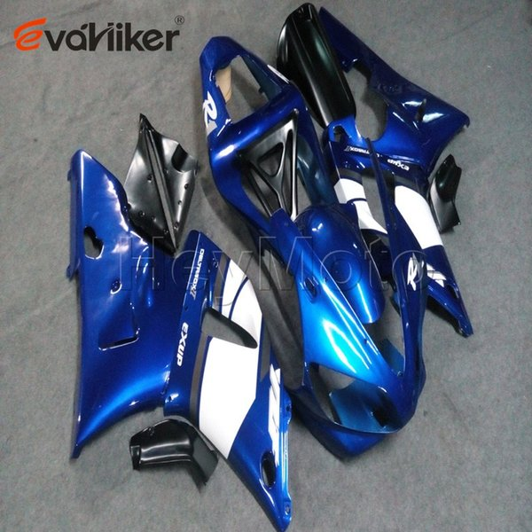 5Gifts + бак + крышка на заказ + синий ABS пластик обтекателя для YZFR1 2000-2001 YZF R1 00 01