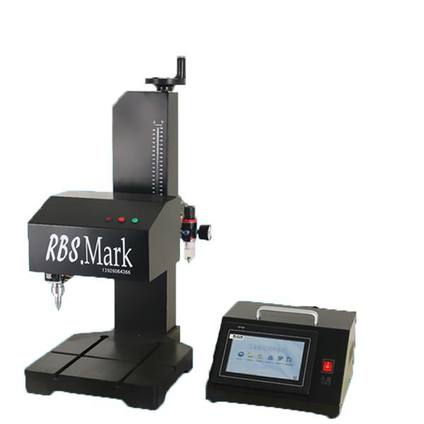 Marcatore pneumatico industriale Stampante per metallo Stampante per targhetta in alluminio in acciaio inossidabile Numero di lotto Codice inglese Con controller