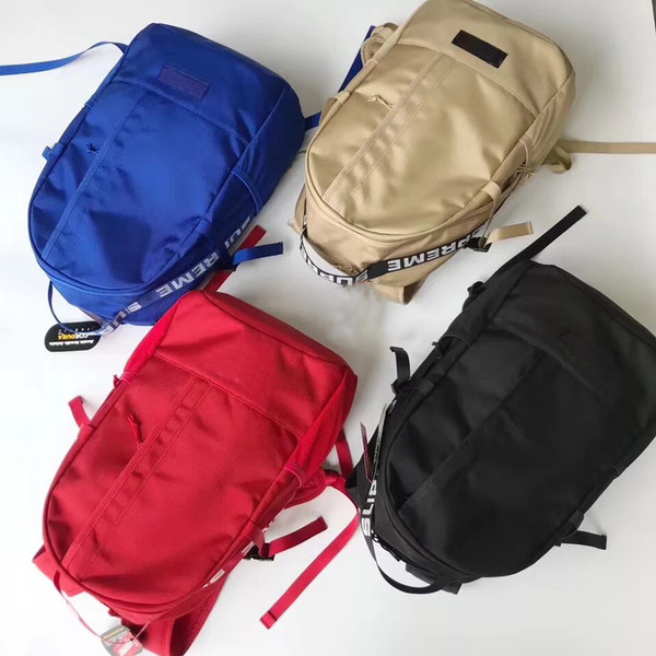 SUP Backpack 18ss School bag outdoor bags Unisex High Quality Duffle bags bookbags Canvas Backpacks SS18
