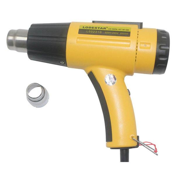 LODESTAR Isı Gun2000W Elektrikli Sıcak Hava Tabancası Sıcaklık kontrollü Isı IC SMD Kaliteli Kaynak Araçları Ayarlanabilir + Meme Tabancası