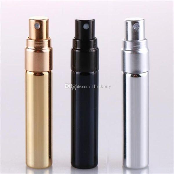 5ml UV Gold Silver Black Perfume Atomizer Empty Travel Bottle Parfum Women Pocket Spray Refillable Glass Bottles 2019022211