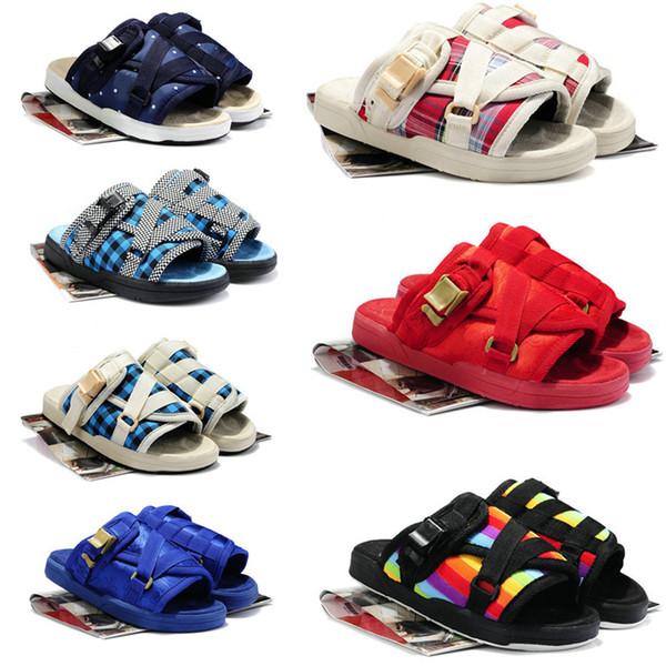 22 Couleur Été Vente Chaude Visvim Homme Et Femmes Pantoufles Chaussures De Mode Amoureux Pantoufles Décontractées Plage Sandales Pantoufles En Plein Air Hip-Hop Sandales