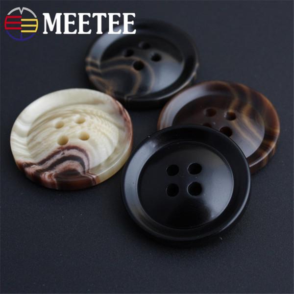 AP2235 DIY elbise dikiş zanaat aksesuarları erkek gömlek düğmesi high-end Ceket düğmesi 4-holes reçine düğmesi