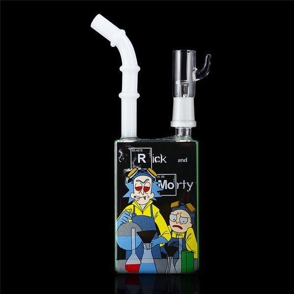 Green Juice Box Cereal Box Heady Pipes with Ceramic Vapor Dome Removable Mouthpiece 14mm Joint Mini Bong Free Shipping