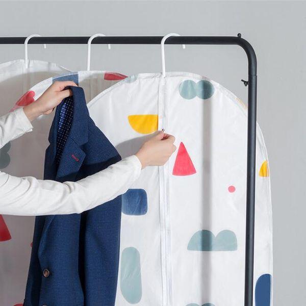 dust cover wardrobe storage bags waterproof hanging PEVA coat suits clothing storage bags home wardrobe organizador storage