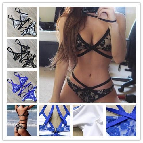 Web Celebrity o mesmo estilo Mulheres Two Piece Moda Swimsuit Sexy Biquíni Pop Impressão Senhora BIKINI Maiô