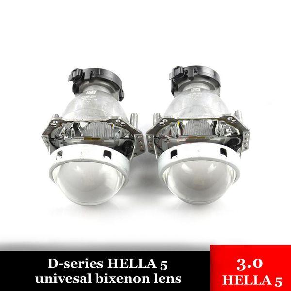 3.0 inch hella 5 bixenon hid car projector lens with blue coating car headlight metal holder D1S D2S D3S D4S xenon bulb Modify