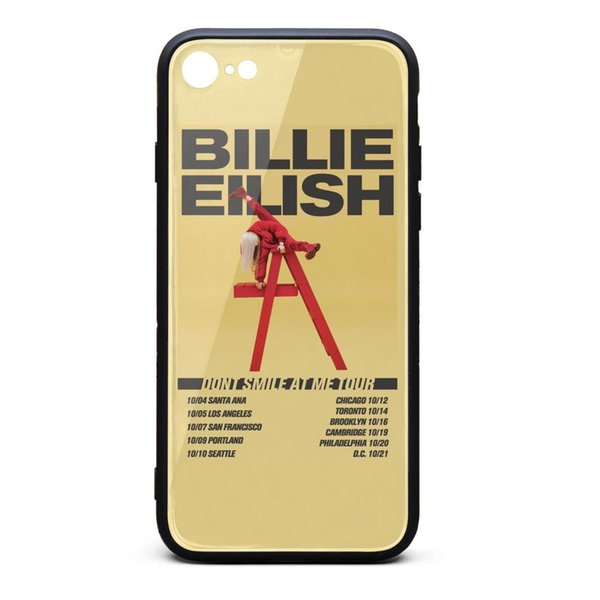 IPhone 8 Case iPhone 7 Case Billie Eilish Don't Smile At Me tour popular shock-absorption TPU Soft Rubber Silicone Cover Phone Case