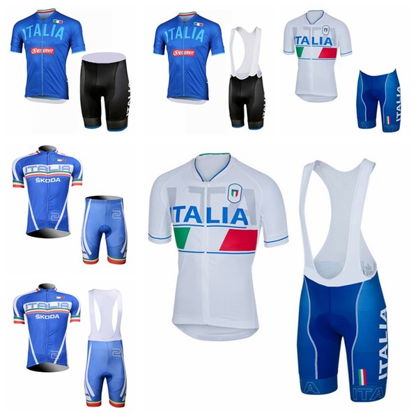 2019 ITALY Cycling Jersey Set Men Bike Clothing Short Sleeve shirt Bib Shorts High Quality summer bicycle sports uniform A2512