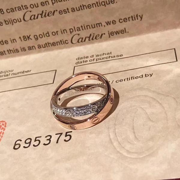 Designer steel silver rose love for lovers couple wedding rings