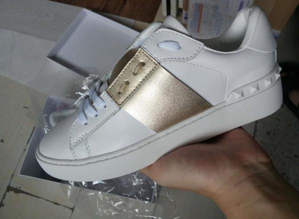 Toptan ucuz erkek kadın lüks tasarımcı sneakers açık ayakkabı ile en kaliteli 9 renkler rahat ayakkabılar orijinal kutusu boyutu 35-46