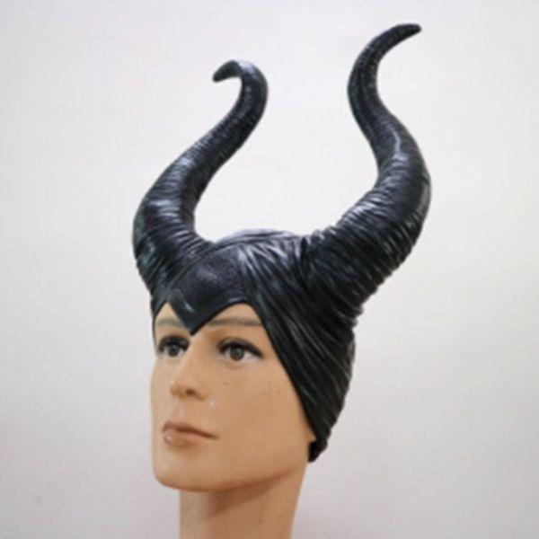 Uyku Büyü Maskesi Maleficent şapka kask kaput Bar korna maskesi COS uyku güzellik cadı Cadılar Bayramı Sahne