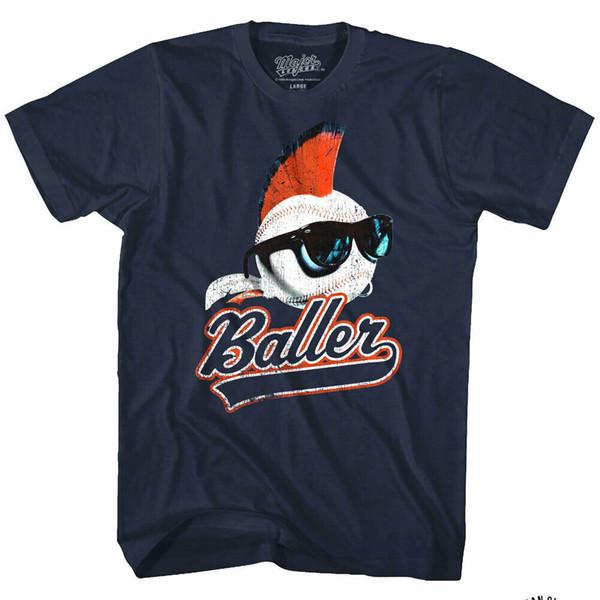 ОФИЦИАЛЬНЫЙ Major League Mohawk Baller Logo Мужская футболка Wild Thing