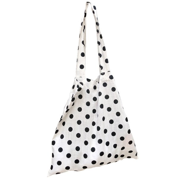 Polka Dot Cloth Crossbody Bags Cute Ladies Handbag Mini Casual Style Shoulder Bag Lazy Style Small Hanging Package