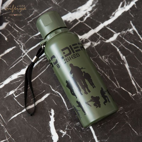 stainless steel tumbler stCross-border camouflage camping insulation bottle travel field stainless steel outdoor camping supplies cups jm