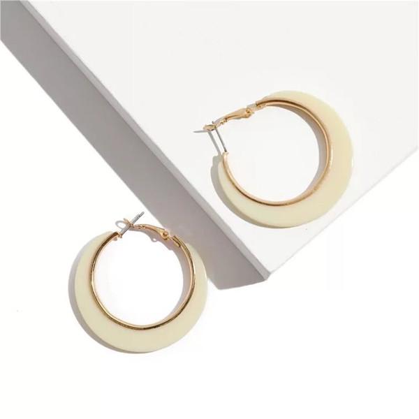8 Colors Bohemian 4.5cm Big Round Hoop Earrings Women Candy Leopard Acrylic Lover Jewelry Wedding Gifts For women