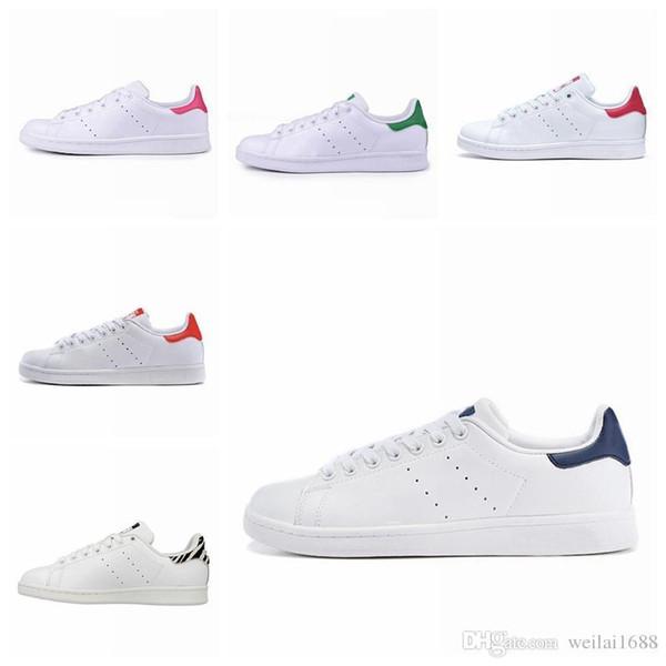 2019 Novas Chegadas de Alta Qualidade Mais Novos Stan Sapatos de Marca de Moda Smith Homens De Couro Das Mulheres de luxo da moda dos homens das mulheres sandálias de grife sapatos